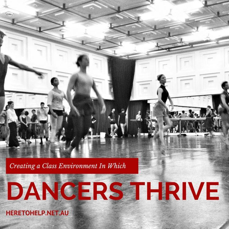 Creating a Class Environment In Which Dancers Thrive